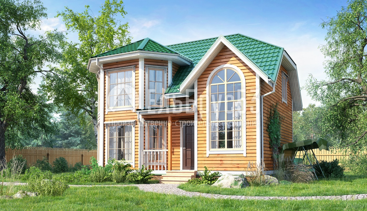 Картинки домов из дерева с эркером дворец